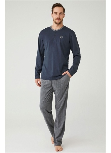 Mod Collection Erkek Patlı Pijama Takım Antrasit